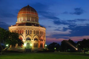 Nott Memorial at dusk, photo by Jan Kratochvila (from here)