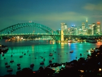 Sydney Harbor at Dusk, Australia.jpg